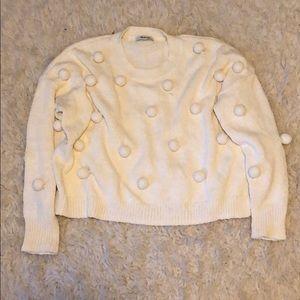 DONATING-offer! Madewell medium pom sweater